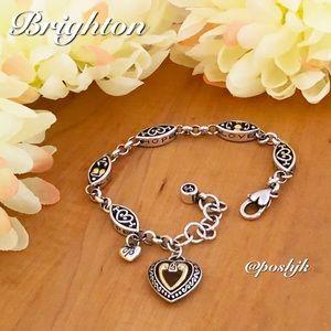 Brighton Bracelet Two Tone Open Heart Hope Love Silver Gold